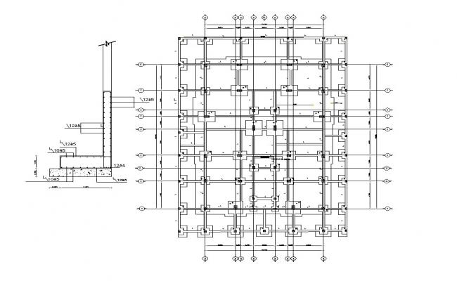 AutoCAD File Column Foundation Construction Design CAD File