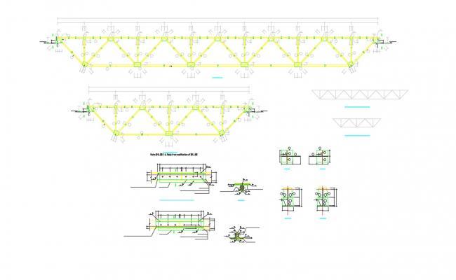 AutoCAD File Steel Truss Connection Design