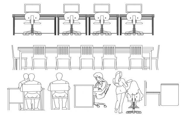 AutoCAD Office Furniture Blocks