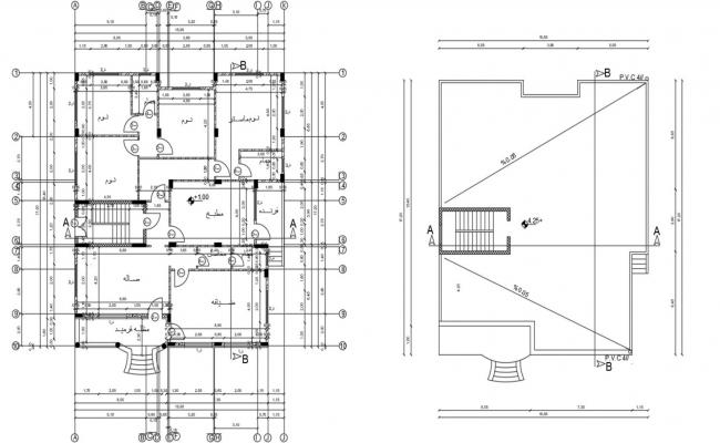 AutoCAD Working House Floor Plan Drawing