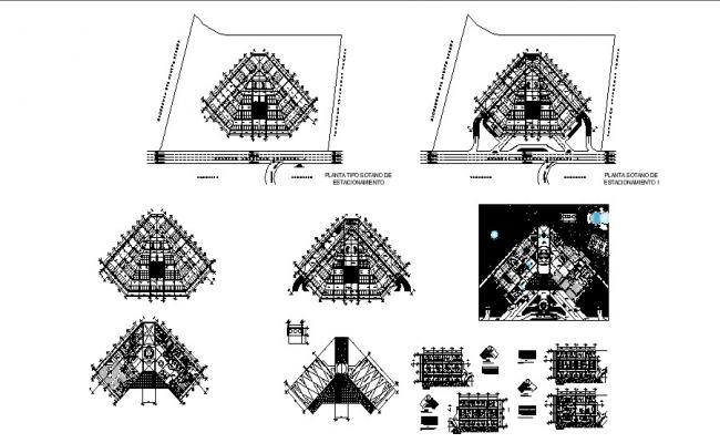 AutoCAD drawing of 5star hotel with detail dimension