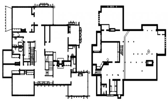 Download Free Modern Bungalow Floor Plan In DWG File