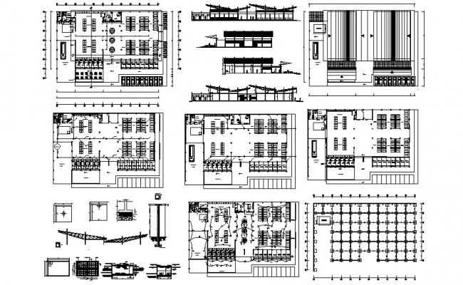 Autocad Drawing of complex with detail dimension in dwg file