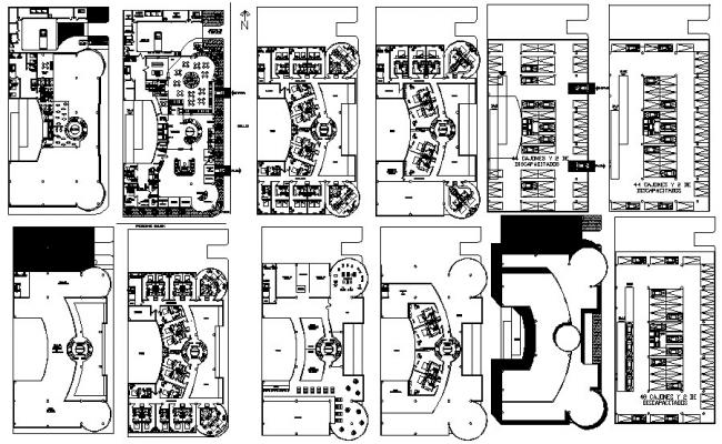 Autocad Drawing of hotel design with detail dimension