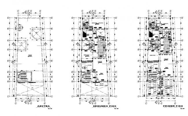 2 Storey House Floor Plan In DWG File