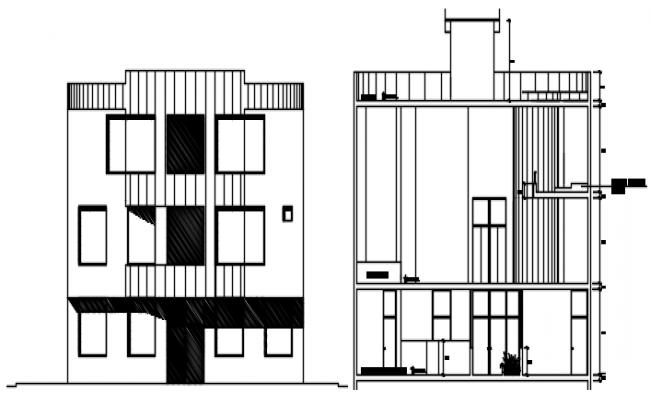 Office Building Design In DWG File