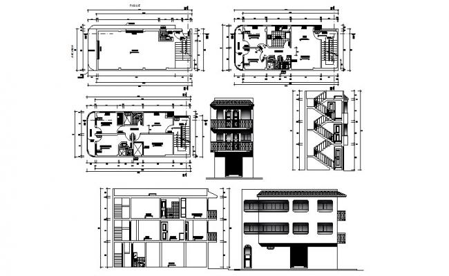 Autocad Drawing of the apartment with elevations