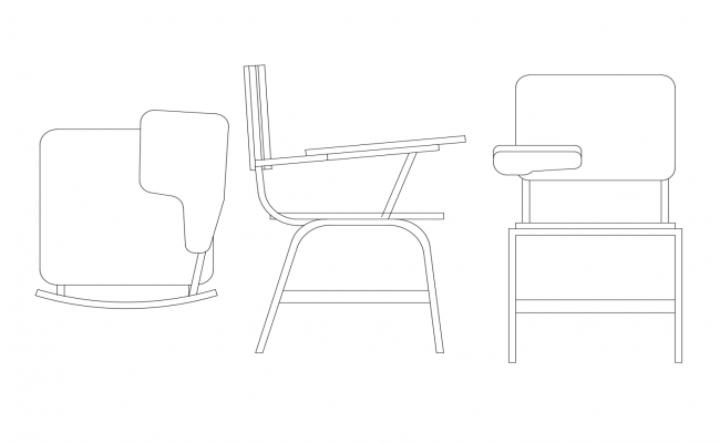 Autocad block of the chair