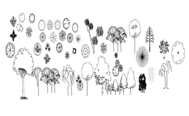 Plants Block In AutoCAD File