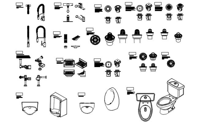 Autocad blocks of sanitary ware