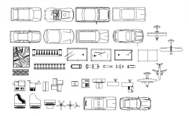 Autocad blocks of vehicles