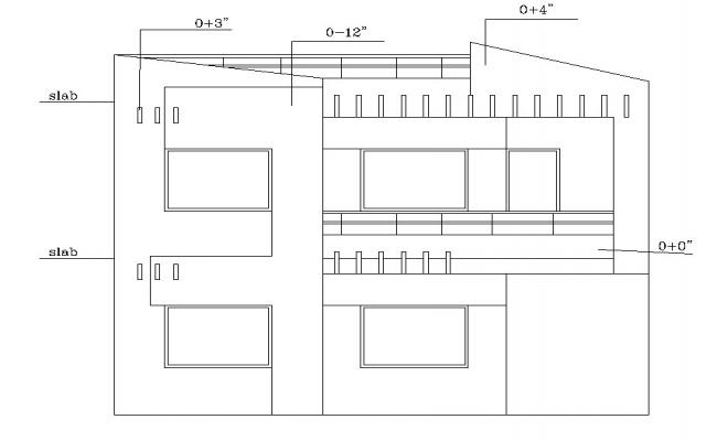 Autocad drawing of 2 storey house design