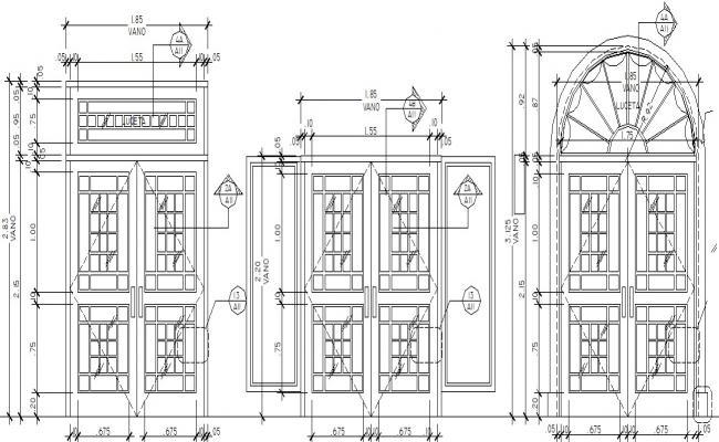 Autocad drawing of Door