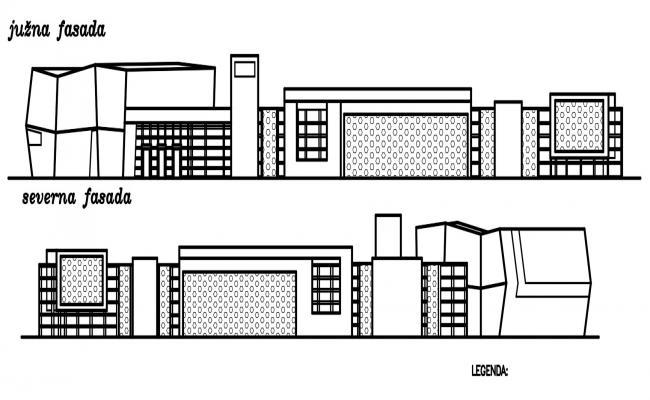 Autocad drawing of Hotel building elevation