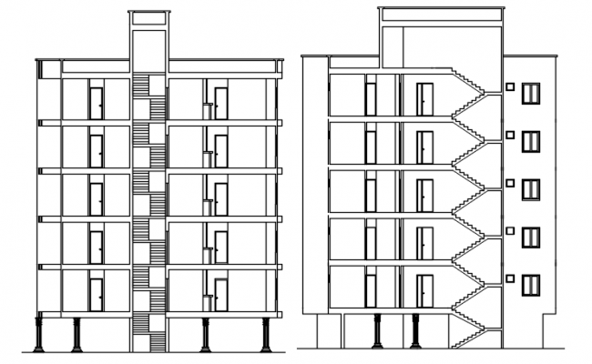 Autocad drawing of a residential apartment in dwg file