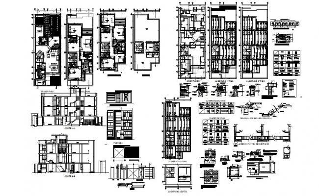 Autocad drawing of a residential house with elevation