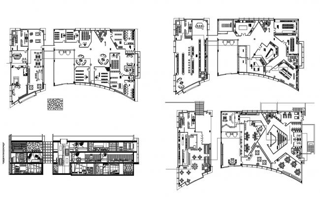 Autocad drawing of academy with sections