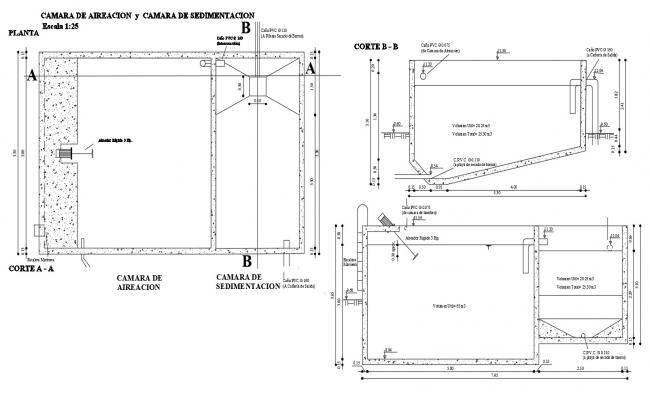 Autocad drawing of air chamber