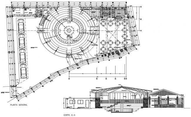 Autocad drawing of an art gallery