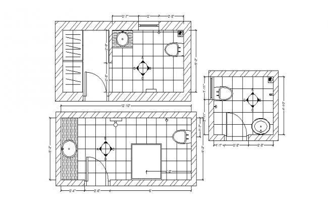 Autocad drawing of bathroom layout