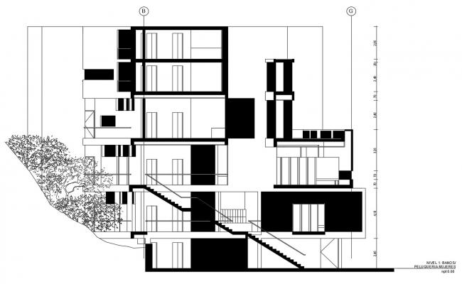 Autocad drawing of commercial complex