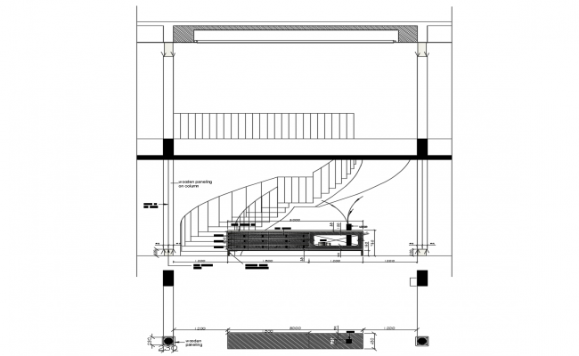 Autocad drawing of construction detail
