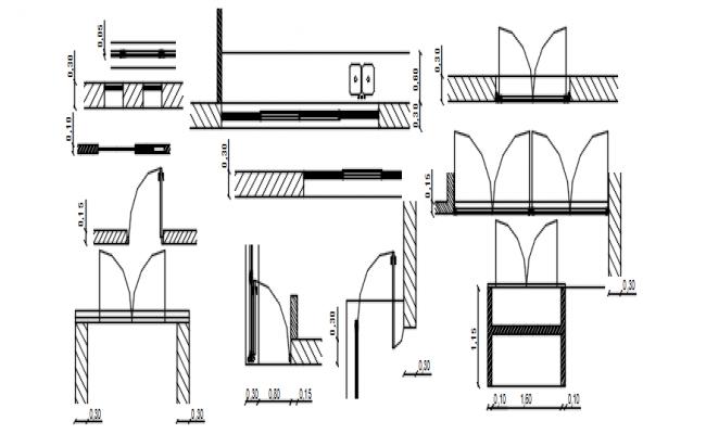 Autocad drawing of door openings