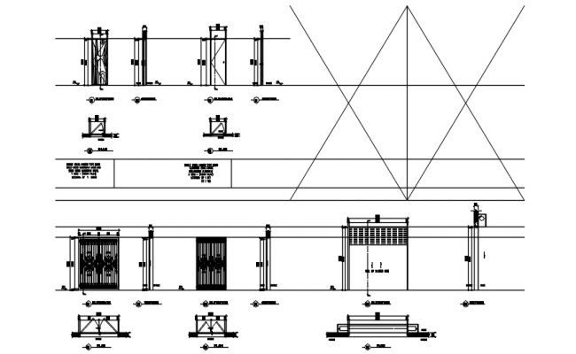 Autocad drawing of doors