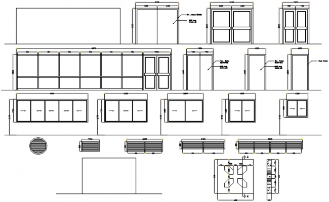 Doors And Windows Drawing In DWG File