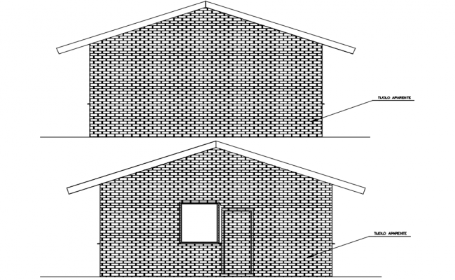Autocad drawing of elevation