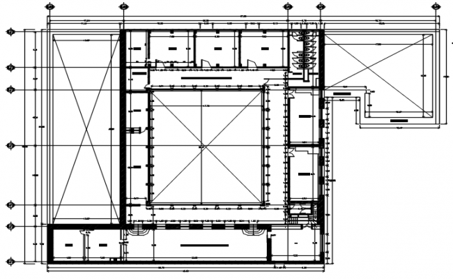 Autocad drawing of foundation plan