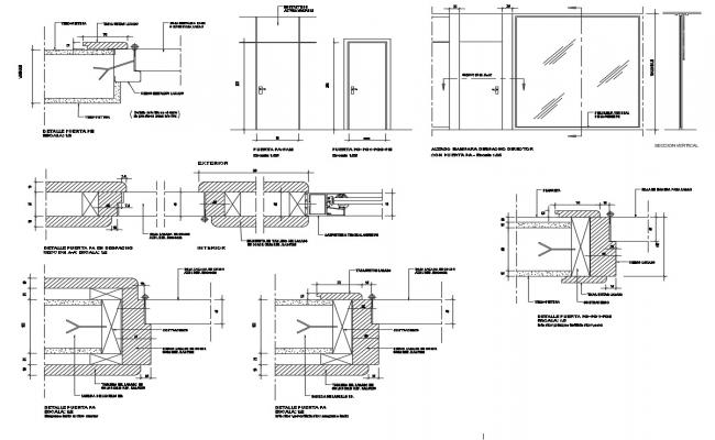 Autocad drawing of furniture details