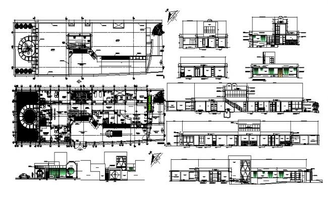 Autocad drawing of hospital with elevations