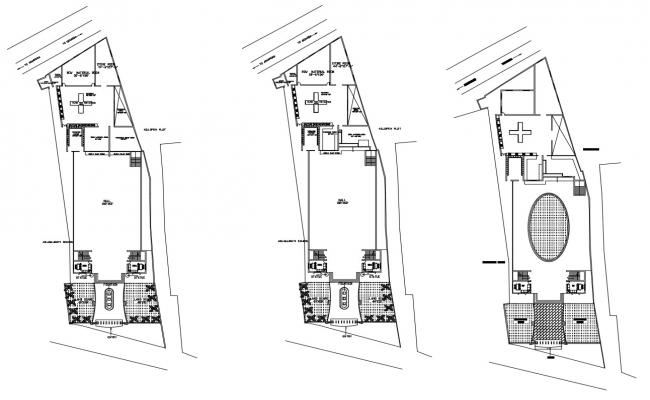 Autocad drawing of hotel