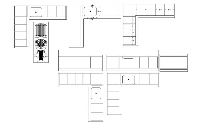 Kitchen Layout Drawing In DWG File