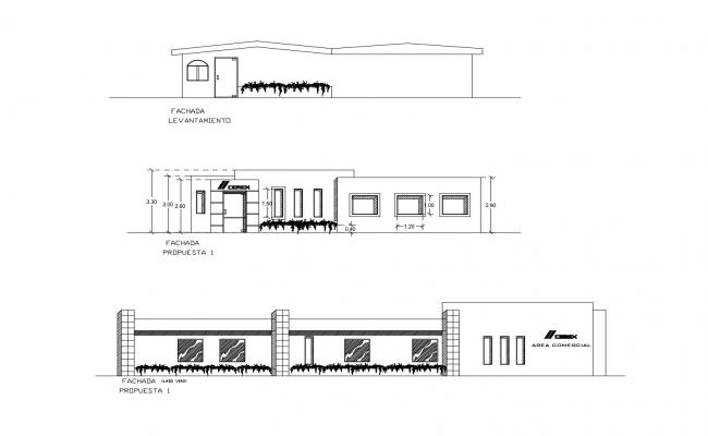 Autocad drawing of office with different elevation