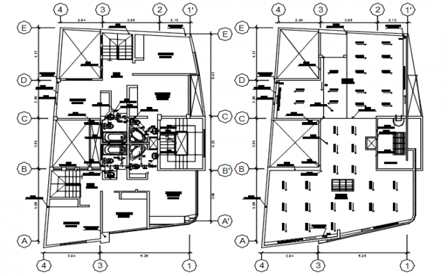 Autocad drawing of plumbing layout