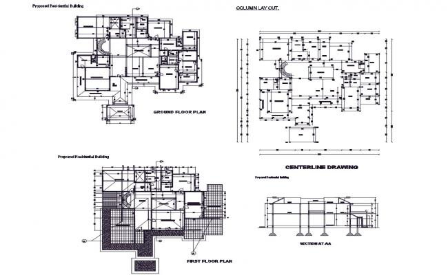 Autocad drawing of residential building