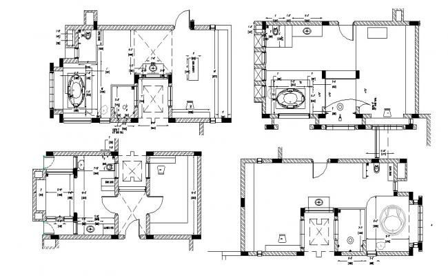 Residential Bungalow Plan In DWG File
