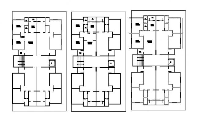 Autocad drawing of residential bungalow site plan