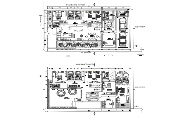 Autocad drawing of residential bunglow