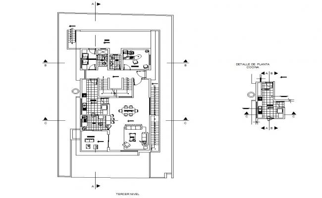 Autocad drawing of residential house