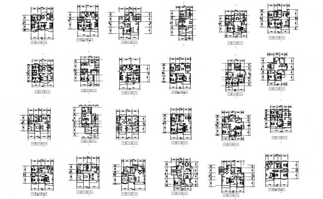 Autocad drawing of residential house design with detail dimension
