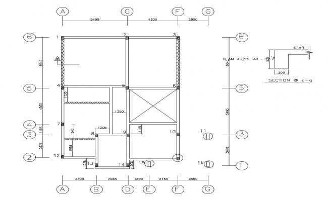 Autocad drawing of residential house layout