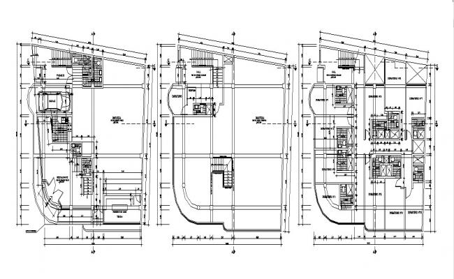 Autocad drawing of residential house plan