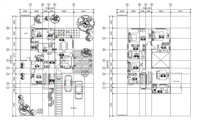 Autocad drawing of residential villa