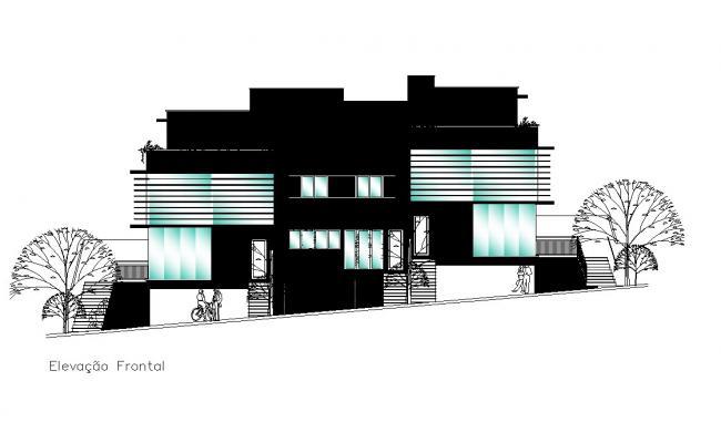 Autocad drawing of resort elevation