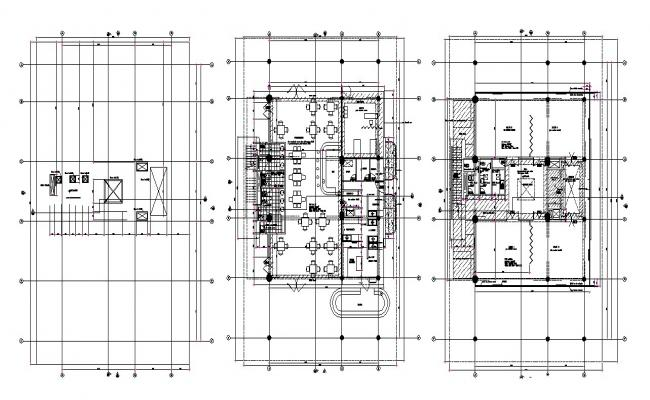 Autocad drawing of restaurant layout