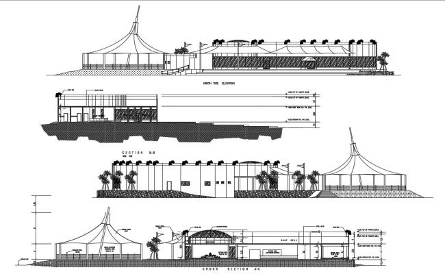 Autocad drawing of restaurant section