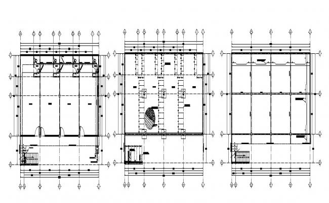 Autocad drawing of retail store